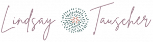 lindsay tauscher logo with flower image in the center